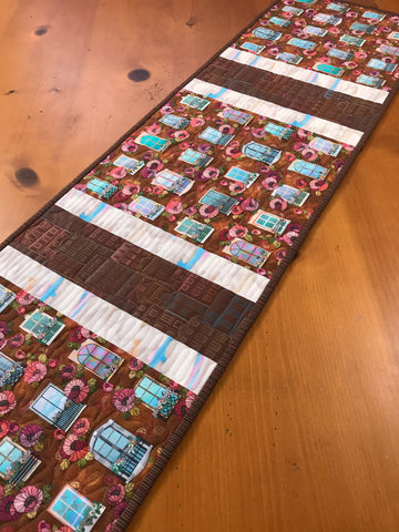 CUSTOM ORDER Table Runner Windows Buildings