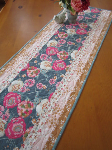 Floral Table Runner Quilted for sale