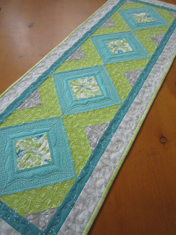 Quilted Table Runner in Spring Colors