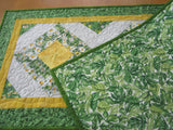 Spring Quilted Handmade Table Runner with Daisies