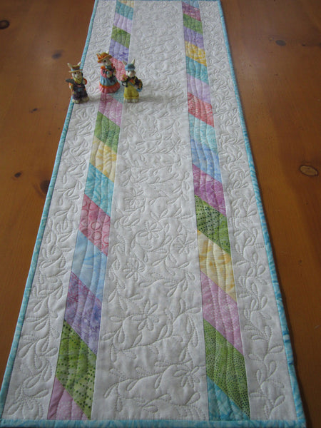 Spring Easter Quilted Table Runner