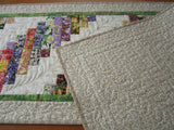 Quilted Table Runner Floral for Spring and Summer
