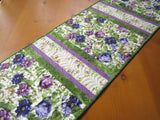 table runner purple green handmade for sale