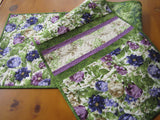 quilted table runner floral