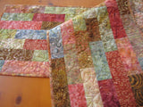 Table Runner Quilted Batik Fall Decor