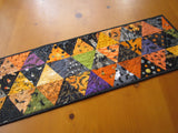 Halloween Table Runner Orange Black