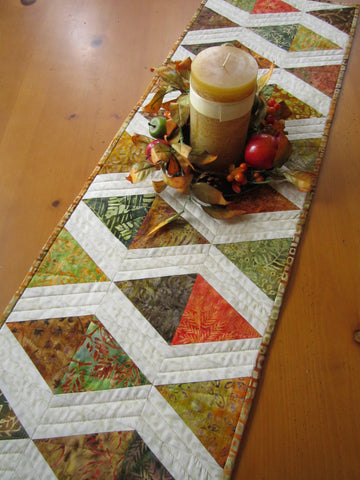 Fall Colors Table Runner Batik Fabrics