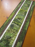 Table Runner Green Rustic Decor