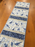 Table Runner Blue Jays and Leaves Holiday Decor