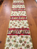 Christmas Presents and Snowflakes Table Runner