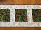 Table Runner with Pine Sprigs and Pine Cones Cabin Decor