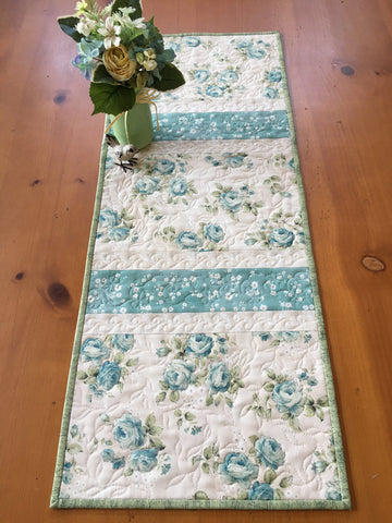 Floral Quilted Table Runner Home Decor