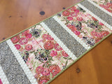 Floral Table Runner with Pink Flowers