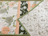 Table Runner Floral in Peach and Green Home Decor