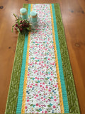 Floral Table Runner in Spring Colors