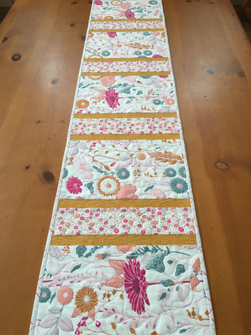 Floral Table Runner Handmade Spring Decor