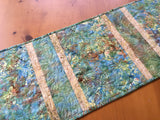 Table Runner Batik with Flowers and Hummingbirds Home Decor Gift