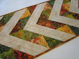 Batik Table Runner with Fall Colors