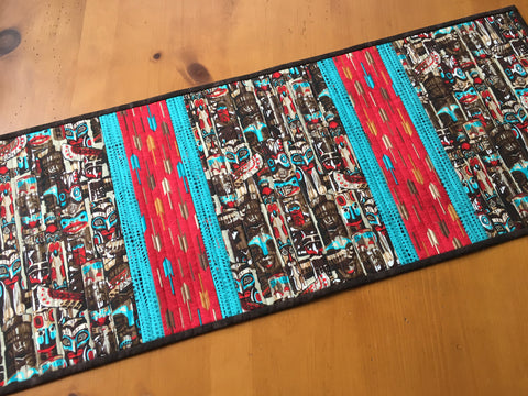 Table Runner Totem Poles Handmade Home Decor