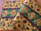 Sunflowers Table Runner Quilted Fall Home Decor