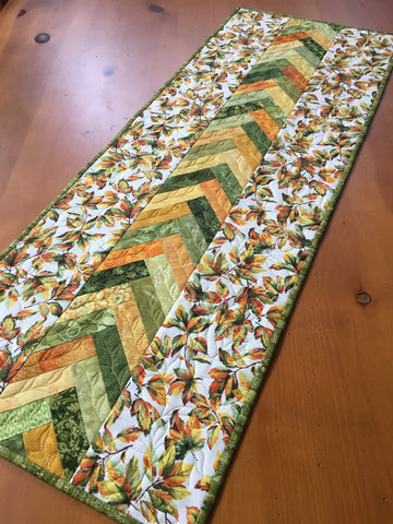 Autumn Leaves Quilted Table Runner Home Decor