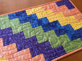 CUSTOM ORDER Quilted Table Runner in Bright Colors