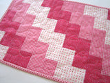 Quilted Table Runner in Pink