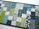 Quilted Table Runner Modern Geometric