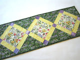 Spring Flowers Quilted Table Runner