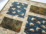 Quilted Table Runner with Birds in Natue