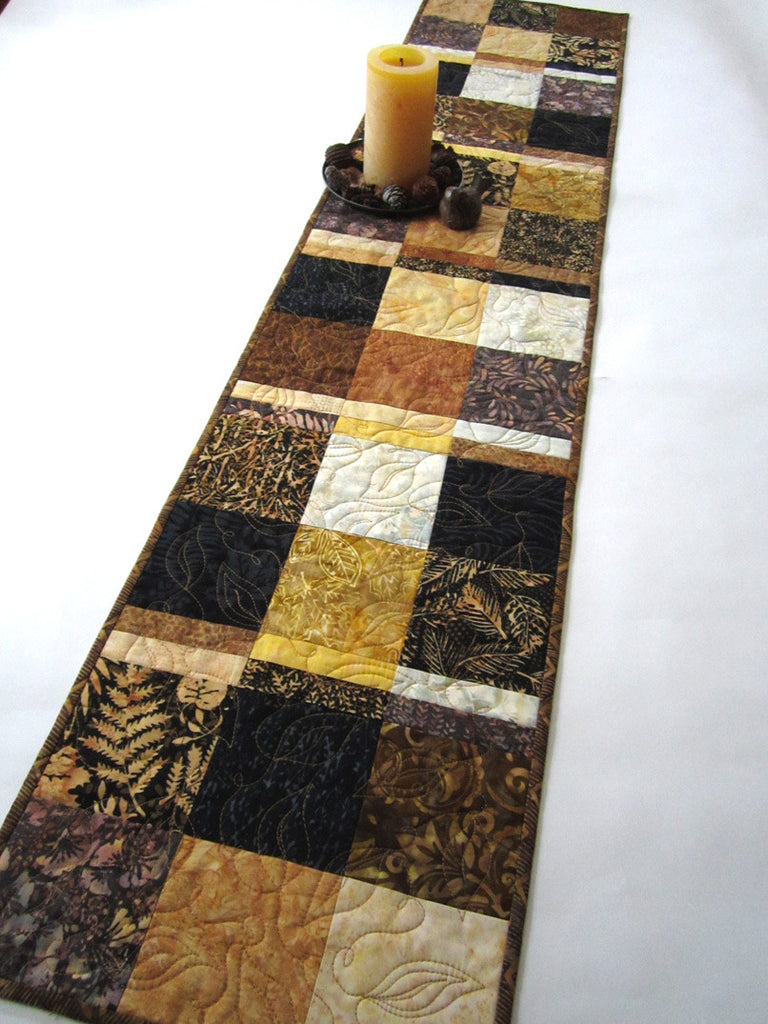Awesome ... Brown, Black And Gold Batik Table Runner ...