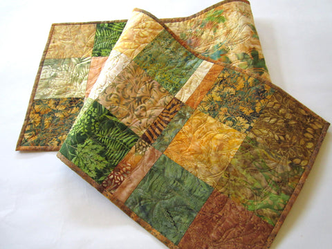 Batik Table Runner in Fall Colors