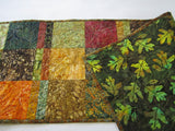 Fall Quilted Table Runner, Batik Table Runner