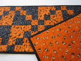 Halloween Table Runner with Bats