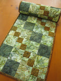 Table Runner Batik Quilted Table Quilt