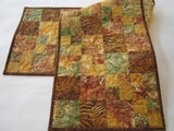 Quilted Table Runner, Batik Handmade Table Runner