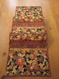 Fall Table Runner Pumpkins and Leaves