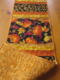 Fall Quilted Table Runner with Pumpkins