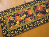 Fall Pumpkins Quilted Table Runner