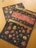 Fall Table Runner with Maple Leaves
