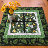 Spring Table Topper With Yellow Finches