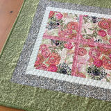 Pink Floral Table Topper Home Decor