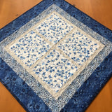 Blue Floral Table Topper Home Decor