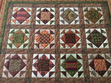 Table Topper or Wall Quilt Primitive Style Small Quilt