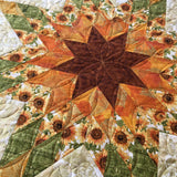 Sunflowers Table Topper Star Design Home Decor