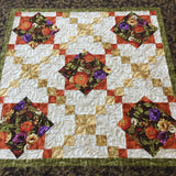 Fall Floral Table Topper Handmade Quilted Home Decor