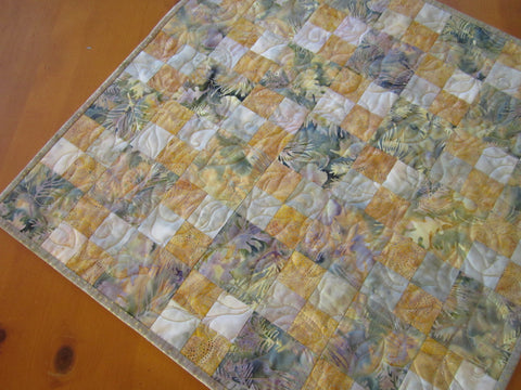 Batik Table Topper with Subtle Colors