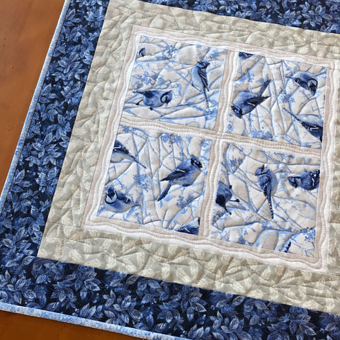 Blue Jays Table Topper Winter Decor