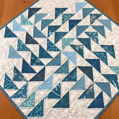 Table Topper Teal Blue Tones Handmade Home Decor
