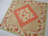 Quilted Table Topper in Spring Flowers